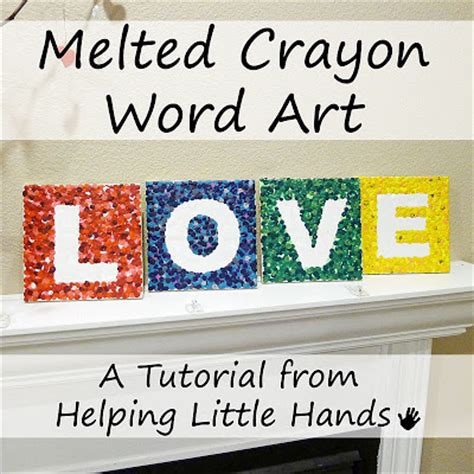 5 Letter Words Out Of Crayon pieces by polly melted crayon tutorial letter tiles