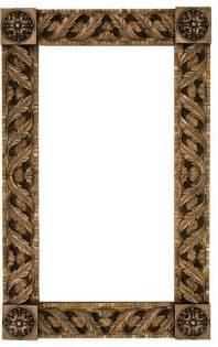 Stone Framed Bathroom Mirrors by Stone Mosaic Mirror Frame With Metal Inlay Mediterranean