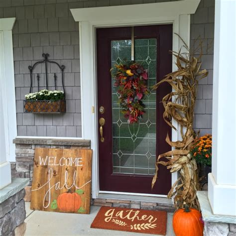 wooden fall decorations diy fall wood sign outdoor decorations brass and whatnots
