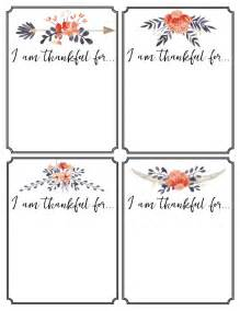 thankful printable cards thanksgiving tradition