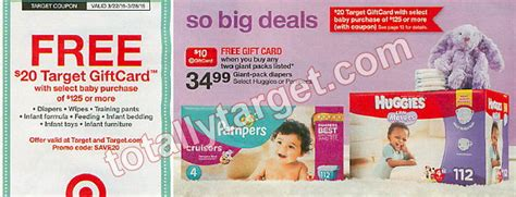 Purchase Target Gift Card - free 20 target gift card with 125 baby purchase target coupon coming 3 22 roundup