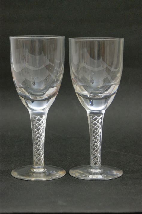 modern wine glasses pair of modern airtwist wine glasses 18cm