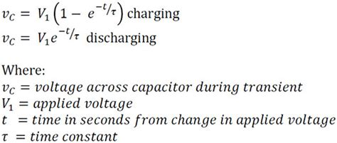 capacitor equations charging capacitors spazztech