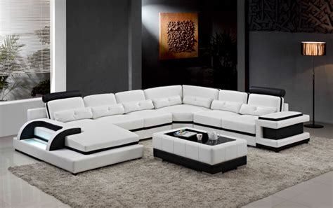 Large Modern Sectional Sofas Large Corner Leather Sofa For Modern Sectional Sofa U Shaped Sofa For Living Room Sofa Furniture