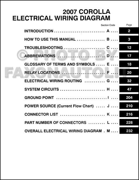 2007 toyota corolla a c wiring diagram wiring diagram