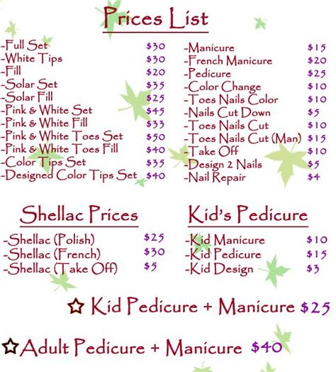 Home Design In Jacksonville Fl price list for nails salon pinterest nails and price