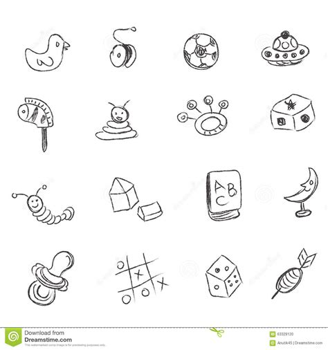 doodle draw icon pack apk toys sketch icons set vector cartoondealer