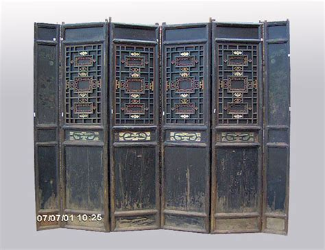 Rare 6 Panel Chinese Antique Carved Wooden Screen Room 6 Panel Room Divider