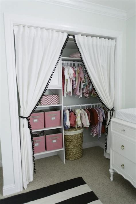 Replace Closet Doors With Curtains 346 Living Sweet Baby S Nursery Closet Design With Ikea Curtains Replacing Closet Doors