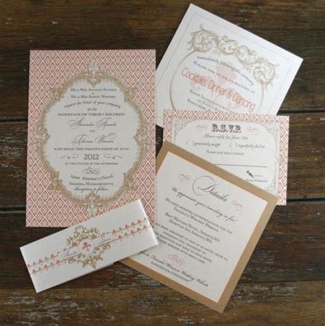 custom ink sts for wedding invitations baroque wedding invitation sets fleur de lis wedding invites wedding invitations