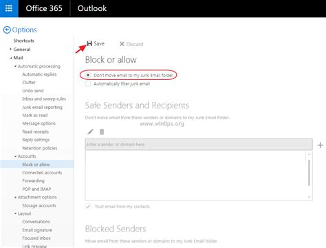 Office 365 Junk Mail Filtering How To Disable Junk Email Filter In Outlook Mail Outlook