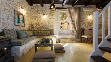 Living Room Rethymno Menu Dotira Villa In Rethymno Traditional Island Living