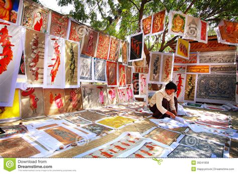 sand painting free sand paintings sale in bagan editorial stock photo image