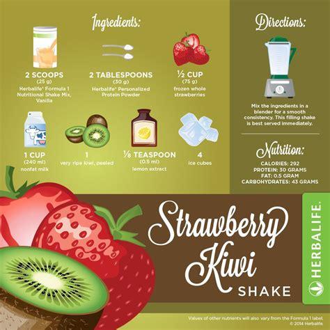 Herbalife Shake Strawberry en herbalife strawberry kiwi shake recipe infographic