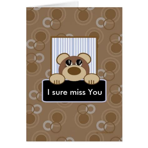 missing you card template i sure miss you template card zazzle