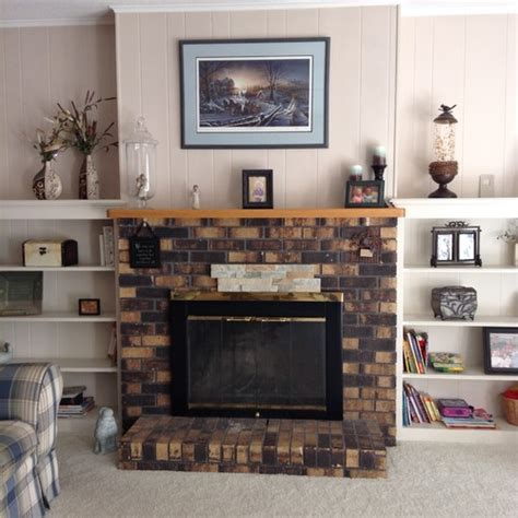 covering fireplace covering brick fireplace need help with mantel