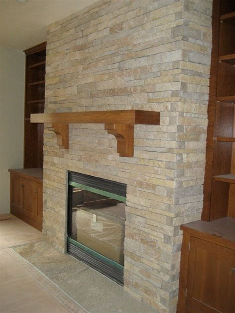Stacked Veneer Fireplace by Stacked Fireplace Indoor Fireplaces