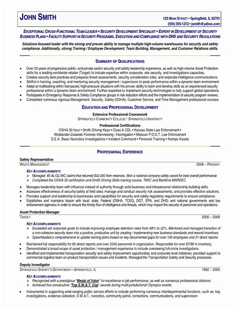 Retired Resume by 13 Fresh Sle Resume For Retired Officer Resume