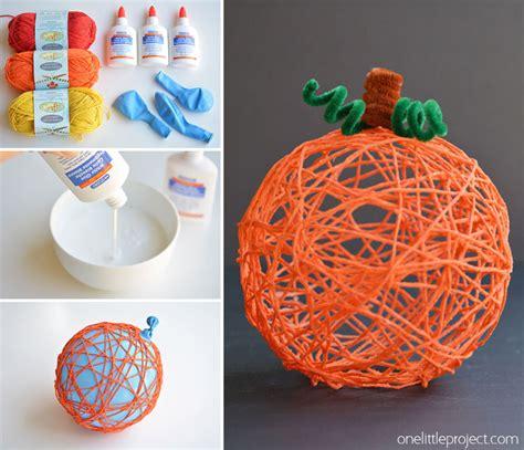 crafts yarn how to make yarn pumpkins using balloons