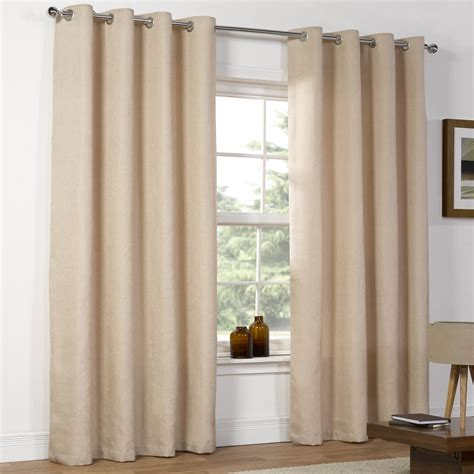eyelet drapes wilko weave eyelet curtains natural 167 x 137cm at wilko com