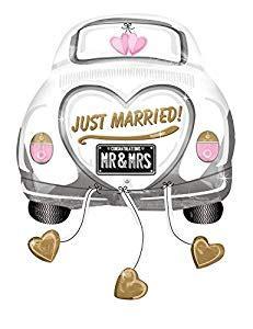 Spielzeug Auto Just Married by Anagram 2454201 Und Dekoration Folienballon