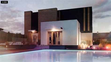Superior  Modelos Casas Modernas #1: Plano-de-espectacular-casa-moderna-para-2-familias-4.jpg