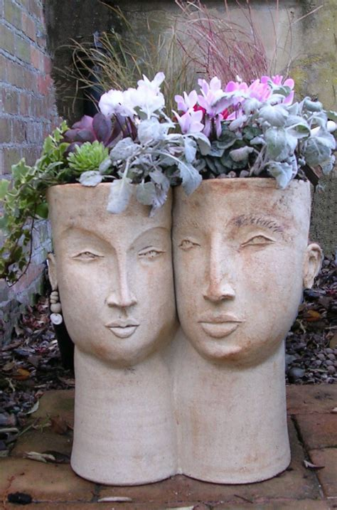 face planter face sculpture planters are still trendy and darling