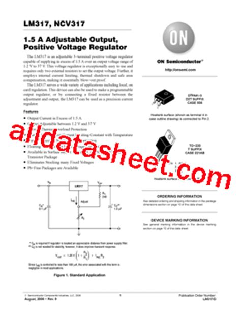 transistor lm317t datasheet lm317t datasheet pdf on semiconductor