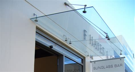 Glass Awning System by Frameless Glass Canopy Systems By Metro Frameless Glass