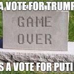 Tombstone Meme Generator - tombstone game over meme generator imgflip