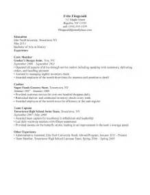 restaurant waiter resume sle