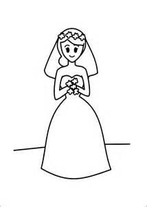 bride coloring child coloring