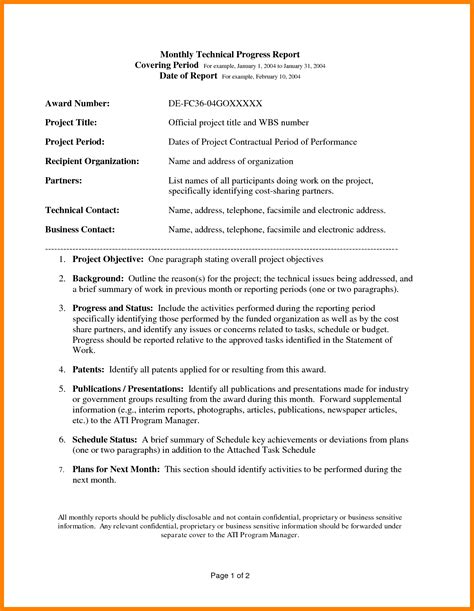 Template Technical Report 8 exle of technical report sephora resume