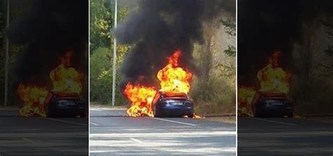 Tesla Model S Fires Tesla Spontaneously Catches Burns During Test