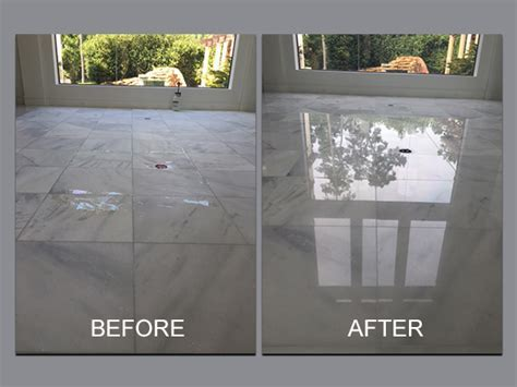 Before and After Natural Stone and Tile Repair in Houston