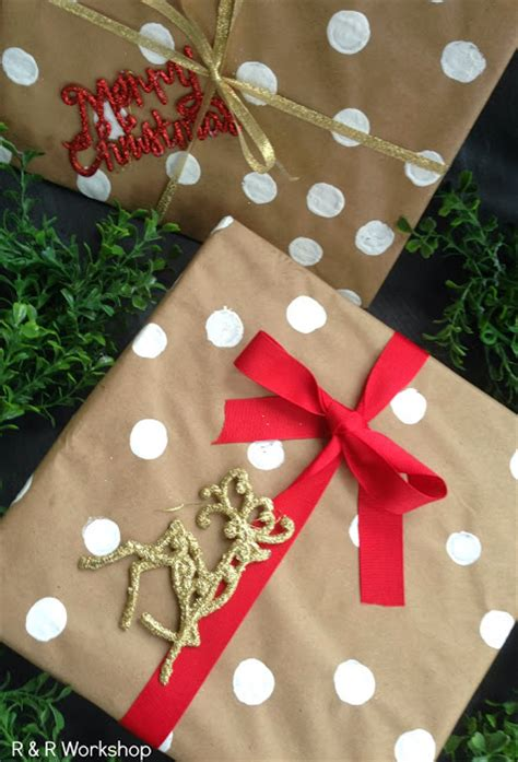 polka dot gift wrap gift wrapping ideas find 15 easy diy and budget friendly