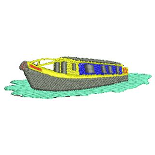 canal boat clipart narrow boat 10997 stock embroidery designs for home and