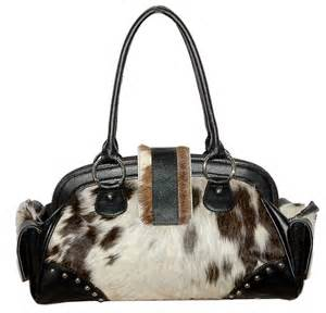 Cowhide Handbag - cowhide real leather large western rodeo handbag bag