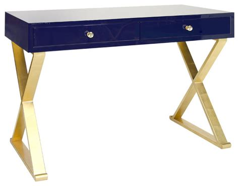 white and gold desk worlds away lacquer desk with gold leafed x base legs
