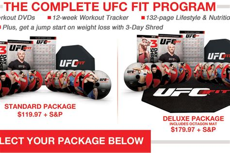 ufc launches ufc fit in home fitness dvd and nutrition