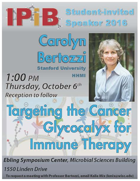 Gift Letter Calyx Ipib Student Invited Speaker Targeting The Cancer Glycocalyx For Immune Therapy Uw