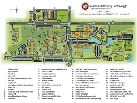 florida institute of technology map travel information