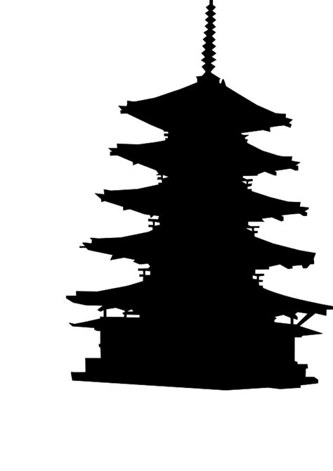 Clipart   Pagoda Silhouette