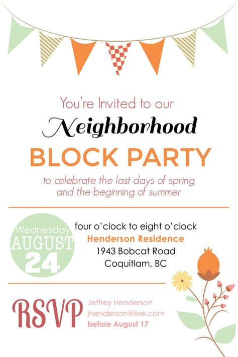 block invitation template how to host a great block block barbecue