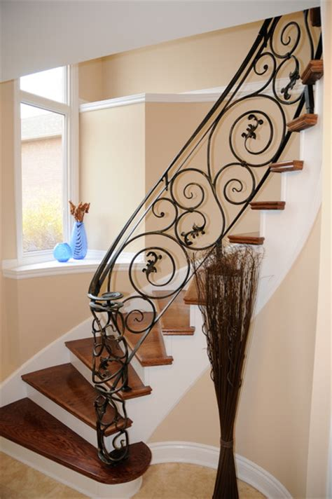 Fer Forge Stairs Design Mississauga Stair And Railing Mediterranean Staircase Toronto By House Tune Up