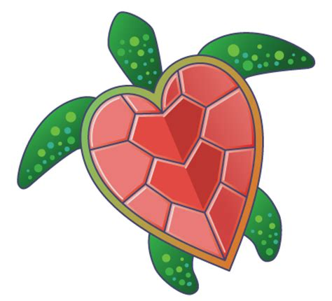 turtles valentines turtle shell pattern clipart best