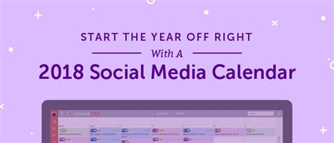2018 Social Media Content Calendar How To Easily Plan Every Post Social Content Calendar Template 2018