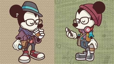 imagenes hipster mickey my little light box hipster disney characters