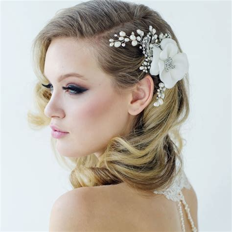 vintage flower wedding hair accessories vintage flower hair accessory mara zaphira bridal