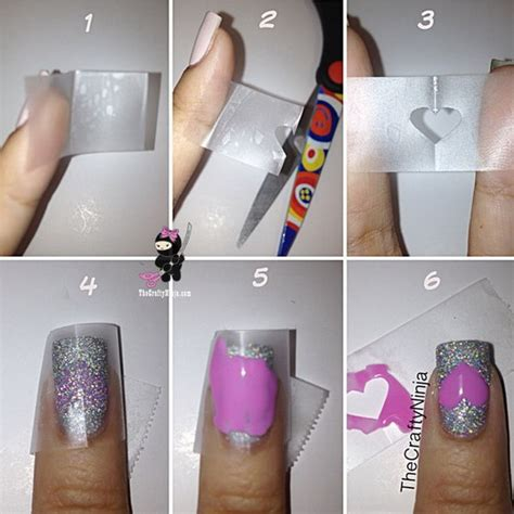 easy nail art with tape step by step 20 easy and fun step by step nail art tutorials
